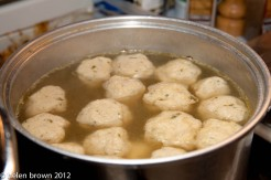 Homemade Matzoh Ball soup