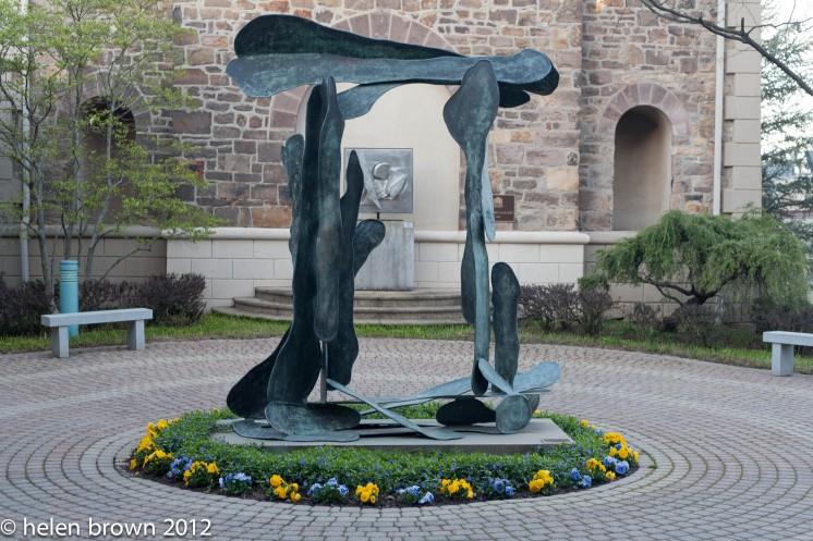 statue at Michner Museum