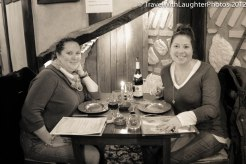 We were excited to eat and drink some great food and wine!