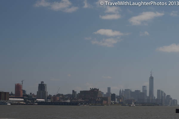 The tall building on the right is the new One World Trade Center