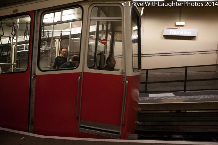 Metro car down the mountain