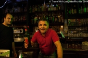 Fun owner of la Gartouille bar!