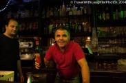 Fun owner of la Gartouille bar!