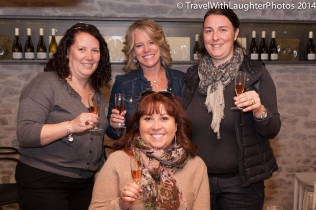 Cheers to a great morning wine tasting!