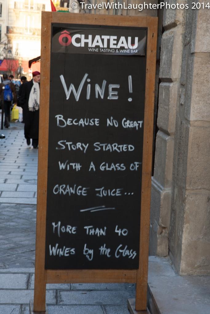 Fun sign greeting you at the door!