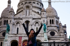 Front Row pose in front of Sacré-Cœur