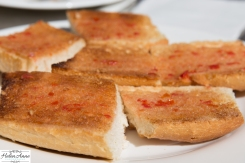 Tomato bread is typical tapas.