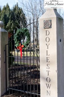 Entrance to Doylestown cemetery!