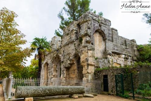 The outside of Temple de Diane