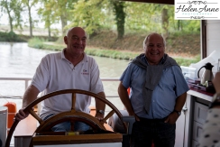Our captain and first mate that got us safely up and down the canal.