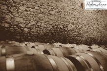 Love the barrels with the stone walls!