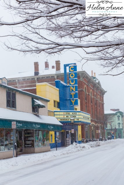 County Theater was open and had the best sidewalks in Doylestown!