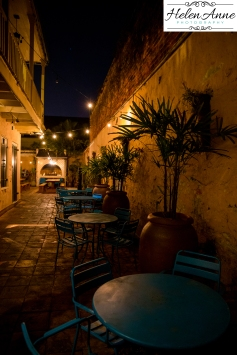 Back courtyard at Cane and Table