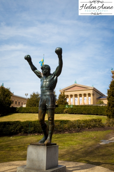 Rocky statue near the Philadelphia Art Museum!