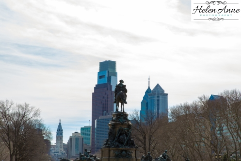 Philadelphia skyline view from the steps of the Art Museum!