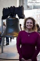 Annela in front of the Liberty Bell!