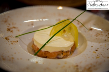 Salmon tartar was delish!