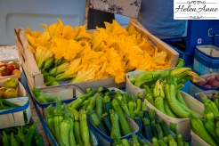 Look at the yummy squash blossoms.