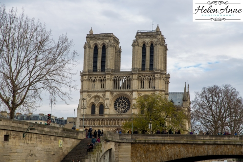 Notre Dame from the Seine.