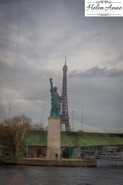 Statue of Liberty and the Eiffel Tower!